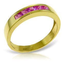 ALARRI 0.6 CTW 14K Solid Gold Rings Natural Pink Sapphire