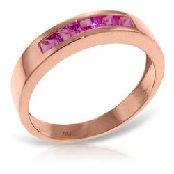ALARRI 14K Solid Rose Gold Rings w/ Natural Pink Sapphires
