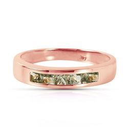 ALARRI 14K Solid Rose Gold Rings w/ Natural Green Sapphires