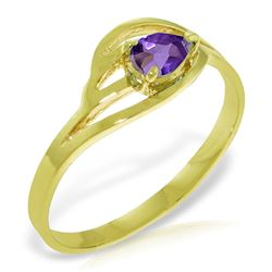ALARRI 0.3 CTW 14K Solid Gold No Emotional Gap Amethyst Ring