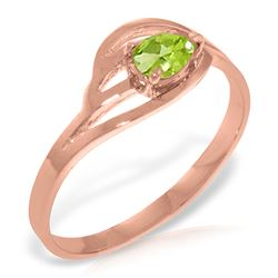 ALARRI 14K Solid Rose Gold Ring w/ Natural Peridot