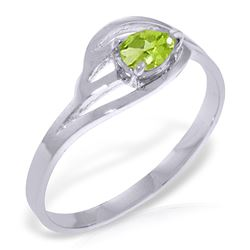ALARRI 0.3 CTW 14K Solid White Gold Small Stuff Peridot Ring