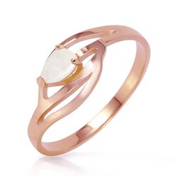 ALARRI 14K Solid Rose Gold Ring w/ Natural Opal