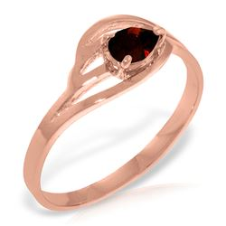 ALARRI 14K Solid Rose Gold Ring w/ Natural Garnet