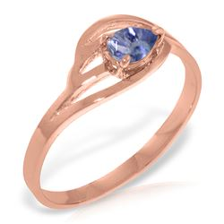 ALARRI 14K Solid Rose Gold Ring w/ Natural Tanzanite