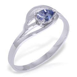 ALARRI 0.3 CTW 14K Solid White Gold Ring Natural Tanzanite