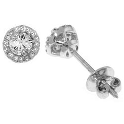 ALARRI 0.16 CTW 14K Solid White Gold Two Is One Diamond Earrings