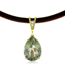 ALARRI 6.01 Carat 14K Solid Gold Magnitude Green Amethyst Diamond Necklace