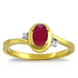 ALARRI 0.51 Carat 14K Solid Gold Preachings Of Love Ruby Diamond Ring