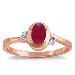 ALARRI 0.51 CTW 14K Solid Rose Gold Atlantis Ruby Diamond Ring