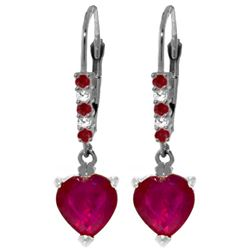ALARRI 2.98 Carat 14K Solid White Gold Make The Most Ruby Diamond Earrings