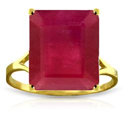 ALARRI 7.5 Carat 14K Solid Gold Ring Natural Octagon Ruby