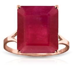 ALARRI 7.5 Carat 14K Solid Rose Gold Ring Natural Octagon Ruby