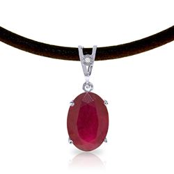 ALARRI 7.71 CTW 14K Solid White Gold Bona Fides Ruby Diamond Necklace