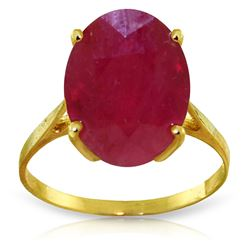 ALARRI 7.5 CTW 14K Solid Gold Ring Natural Oval Ruby