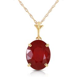 ALARRI 3.5 CTW 14K Solid Gold Not Just Seduction Ruby Necklace