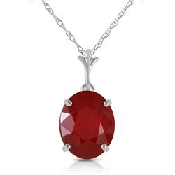 ALARRI 3.5 CTW 14K Solid White Gold Melting Into Union Ruby Necklace