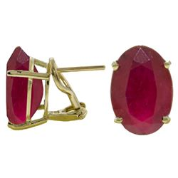 ALARRI 15 CTW 14K Solid Gold Intensity Ruby Earrings
