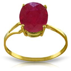 ALARRI 3.5 CTW 14K Solid Gold Something To Be Said Ruby Ring