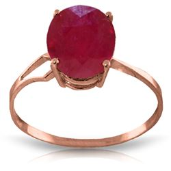 ALARRI 3.5 CTW 14K Solid Rose Gold Opulence Ruby Ring