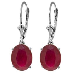 ALARRI 7 Carat 14K Solid White Gold Destinations Ruby Earrings