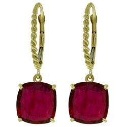 ALARRI 13.5 Carat 14K Solid Gold Headstrong Ruby Earrings