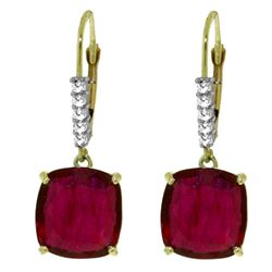 ALARRI 13.65 Carat 14K Solid Gold Perdita Ruby Diamond Earrings