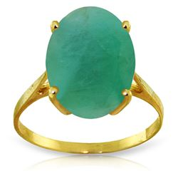 ALARRI 6.5 CTW 14K Solid Gold Ring Natural Oval Emerald