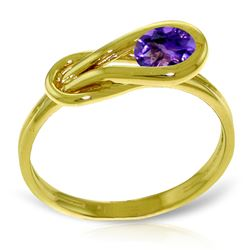 ALARRI 0.65 Carat 14K Solid Gold From This Angle Amethyst Ring