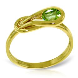ALARRI 0.65 CTW 14K Solid Gold Unheard Of Peridot Ring
