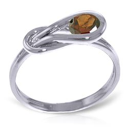 ALARRI 0.65 Carat 14K Solid White Gold Vulnerable Heart Garnet Ring