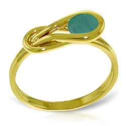 ALARRI 0.65 Carat 14K Solid Gold Ring Natural Emerald