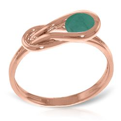 ALARRI 14K Solid Rose Gold Ring w/ Natural Emerald