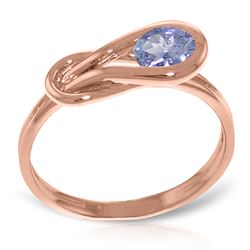 ALARRI 0.65 Carat 14K Solid Rose Gold Ring Natural Tanzanite