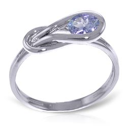 ALARRI 0.65 Carat 14K Solid White Gold Reactions Tanzanite Ring