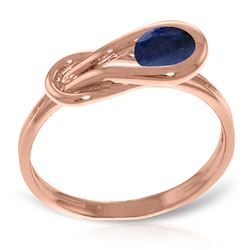 ALARRI 14K Solid Rose Gold Ring w/ Natural Sapphire