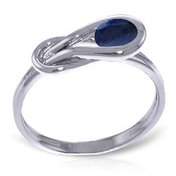 ALARRI 0.65 CTW 14K Solid White Gold Push Your Luck Sapphire Ring