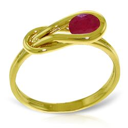 ALARRI 0.65 Carat 14K Solid Gold Stumbling Upon Ruby Ring