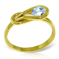 ALARRI 0.65 Carat 14K Solid Gold Don't Stop Breathing Aquamarine Ring