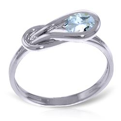 ALARRI 0.65 CTW 14K Solid White Gold Meet Me Halfway Aquamarine Ring
