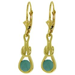 ALARRI 1.3 Carat 14K Solid Gold Elysian Emerald Earrings