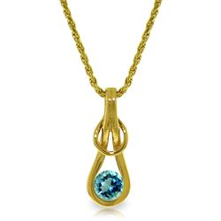 ALARRI 0.65 Carat 14K Solid Gold Sailor's Knot Aquamarine Necklace