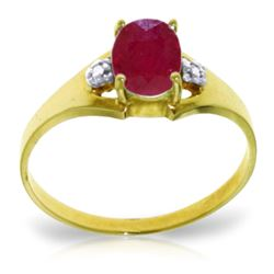 ALARRI 1.26 Carat 14K Solid Gold Rules Of Attraction Ruby Diamond Ring