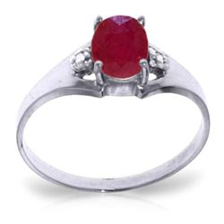 ALARRI 1.26 CTW 14K Solid White Gold Live In Joy Ruby Diamond Ring