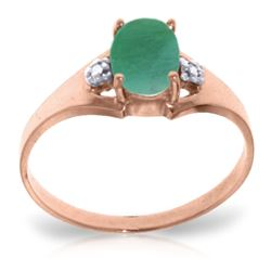 ALARRI 1.26 Carat 14K Solid Rose Gold Brilliance Emerald Diamond Ring