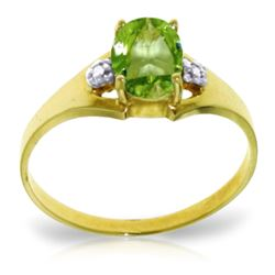 ALARRI 0.76 CTW 14K Solid Gold Motions Of Love Peridot Diamond Ring