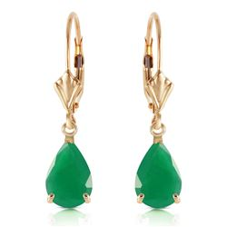 ALARRI 2 Carat 14K Solid Gold Extravaganza Emerald Earrings