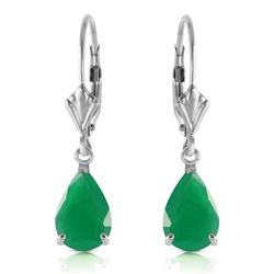 ALARRI 2 CTW 14K Solid White Gold Rivalry Emerald Earrings