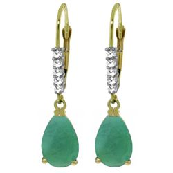 ALARRI 2.15 Carat 14K Solid Gold Violeta Emerald Diamond Earrings