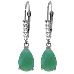 ALARRI 2.15 Carat 14K Solid White Gold Scorching Stare Emerald Diamond Earrings